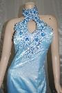 ブルー ロング ドレス